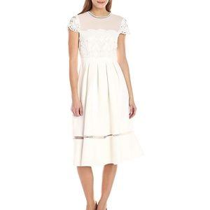 Ted Baker Frizay Lace White Ivory Midi Dress